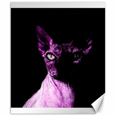 Pink Sphynx Cat Canvas 20  X 24   by Valentinaart