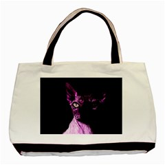 Pink Sphynx Cat Basic Tote Bag (two Sides) by Valentinaart