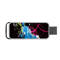 Sneakers Shoes Patterns Bright Portable Usb Flash (one Side) by Simbadda