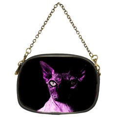 Pink Sphynx Cat Chain Purses (one Side)  by Valentinaart