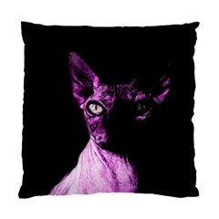Pink Sphynx Cat Standard Cushion Case (one Side) by Valentinaart