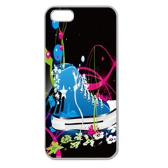Sneakers Shoes Patterns Bright Apple Seamless Iphone 5 Case (clear) by Simbadda