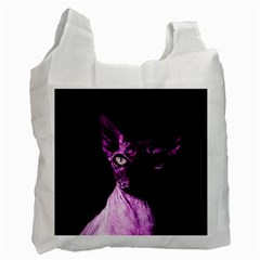 Pink Sphynx Cat Recycle Bag (two Side)  by Valentinaart