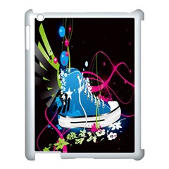 Sneakers Shoes Patterns Bright Apple Ipad 3/4 Case (white) by Simbadda