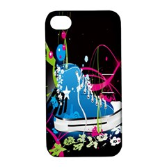 Sneakers Shoes Patterns Bright Apple Iphone 4/4s Hardshell Case With Stand by Simbadda