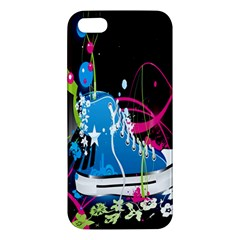 Sneakers Shoes Patterns Bright Apple Iphone 5 Premium Hardshell Case by Simbadda