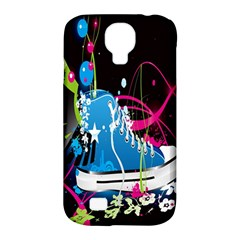 Sneakers Shoes Patterns Bright Samsung Galaxy S4 Classic Hardshell Case (pc+silicone) by Simbadda