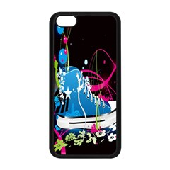 Sneakers Shoes Patterns Bright Apple Iphone 5c Seamless Case (black) by Simbadda