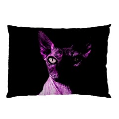 Pink Sphynx Cat Pillow Case (two Sides) by Valentinaart
