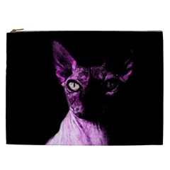 Pink Sphynx Cat Cosmetic Bag (xxl)  by Valentinaart