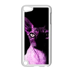 Pink Sphynx Cat Apple Ipod Touch 5 Case (white) by Valentinaart