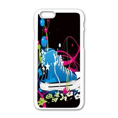 Sneakers Shoes Patterns Bright Apple Iphone 6/6s White Enamel Case by Simbadda