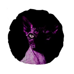 Pink Sphynx Cat Standard 15  Premium Round Cushions by Valentinaart