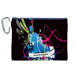 Sneakers Shoes Patterns Bright Canvas Cosmetic Bag (xl) by Simbadda