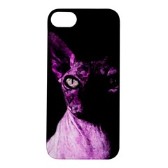 Pink Sphynx Cat Apple Iphone 5s/ Se Hardshell Case by Valentinaart