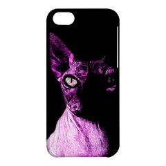 Pink Sphynx Cat Apple Iphone 5c Hardshell Case by Valentinaart