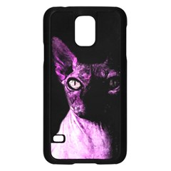 Pink Sphynx Cat Samsung Galaxy S5 Case (black) by Valentinaart
