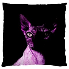 Pink Sphynx Cat Large Flano Cushion Case (two Sides) by Valentinaart