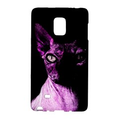 Pink Sphynx Cat Galaxy Note Edge by Valentinaart