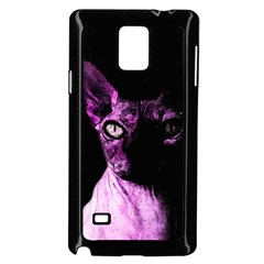 Pink Sphynx Cat Samsung Galaxy Note 4 Case (black) by Valentinaart