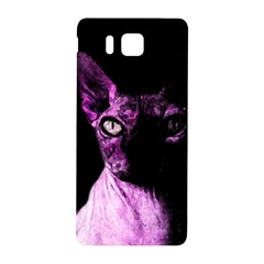 Pink Sphynx Cat Samsung Galaxy Alpha Hardshell Back Case by Valentinaart