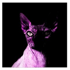 Pink Sphynx Cat Large Satin Scarf (square) by Valentinaart