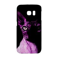 Pink Sphynx Cat Galaxy S6 Edge by Valentinaart