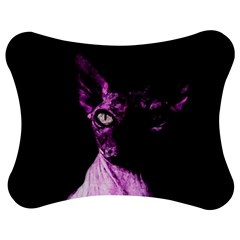 Pink Sphynx Cat Jigsaw Puzzle Photo Stand (bow) by Valentinaart
