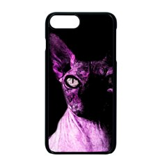 Pink Sphynx Cat Apple Iphone 7 Plus Seamless Case (black) by Valentinaart