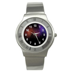 Point Light Luster Surface Stainless Steel Watch by Simbadda