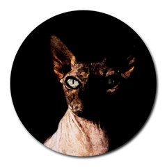 Sphynx Cat Round Mousepads by Valentinaart