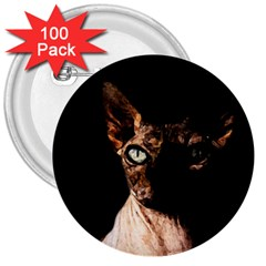 Sphynx Cat 3  Buttons (100 Pack)  by Valentinaart