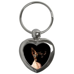 Sphynx Cat Key Chains (heart)  by Valentinaart
