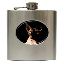 Sphynx Cat Hip Flask (6 Oz) by Valentinaart