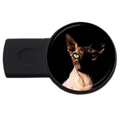 Sphynx Cat Usb Flash Drive Round (4 Gb) by Valentinaart