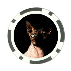 Sphynx Cat Poker Chip Card Guard by Valentinaart
