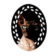 Sphynx Cat Ornament (oval Filigree) by Valentinaart