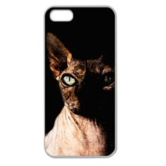 Sphynx Cat Apple Seamless Iphone 5 Case (clear) by Valentinaart