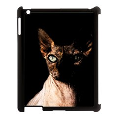 Sphynx Cat Apple Ipad 3/4 Case (black) by Valentinaart