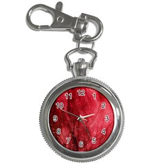 Red Background Texture Key Chain Watches by Simbadda