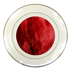 Red Background Texture Porcelain Plates by Simbadda