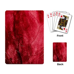Red Background Texture Playing Card by Simbadda