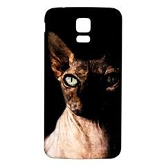 Sphynx Cat Samsung Galaxy S5 Back Case (white) by Valentinaart