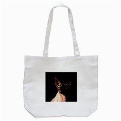 Sphynx Cat Tote Bag (white) by Valentinaart