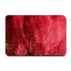 Red Background Texture Small Doormat  by Simbadda