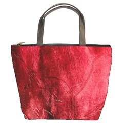 Red Background Texture Bucket Bags by Simbadda