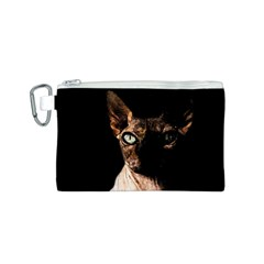 Sphynx Cat Canvas Cosmetic Bag (s) by Valentinaart