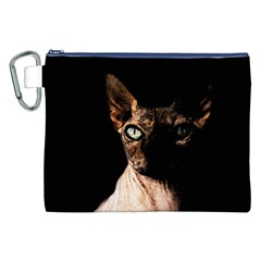 Sphynx Cat Canvas Cosmetic Bag (xxl) by Valentinaart