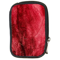 Red Background Texture Compact Camera Cases by Simbadda