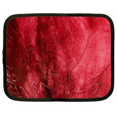 Red Background Texture Netbook Case (xxl)  by Simbadda
